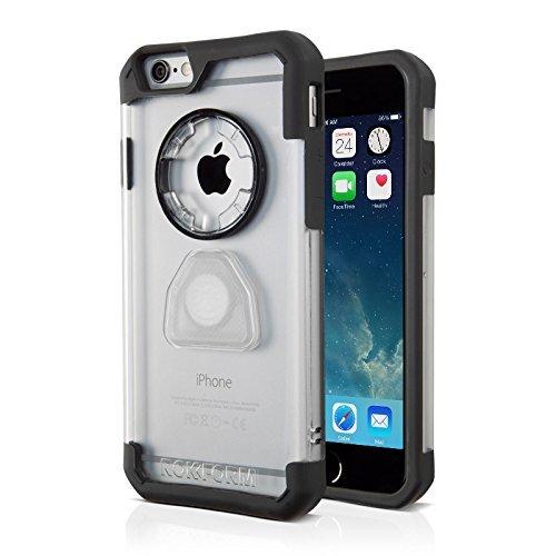 Rokform Sport Schutzhülle iPhone 6 / 6S (4.7) Hülle mit Magnetic Auto-Halterung - Tasche in Krystal Orange crystal clear