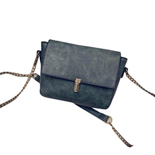 Donne Retro borsa di modo Tracolla Grande borsa Tote signore,Fami verde