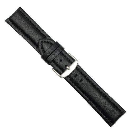Uhrbanddealer Damen und Herren Uhrenarmband Sportina Lorica Wasserfest 18mm Schwarz 204818