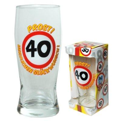 Bierglas Prost zum 40. Geburtstag Artikel 67392