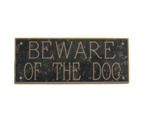 acryl-beware-of-the-dog-127-x-51-cm-sign-in-anthrazit-mit-gold-fleck
