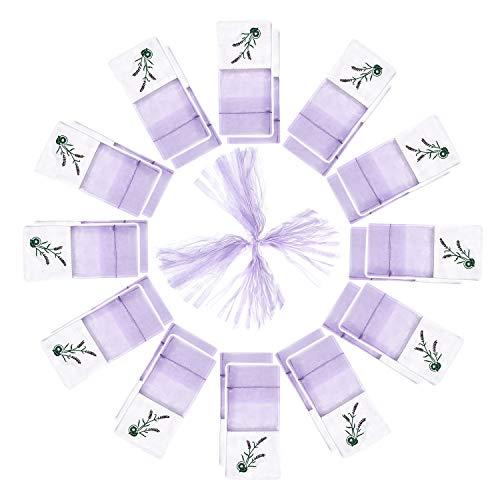TooGet Organza Taschen Lavendel Luxus Hochzeit Voile Geschenk Tasche Schmuck Geschenk Beutel Taschen für Hochzeit Gefälligkeiten, 7.5cm x 15cm, 24er-Pack -