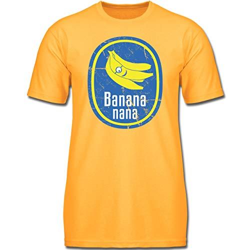 Up to Date Kind - Banana Nana Vintage - 128 (7-8 Jahre) - Gelb - F130K - Jungen Kinder T-Shirt -