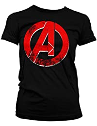 Officially Licensed The Avengers Distressed A Women T-Shirt