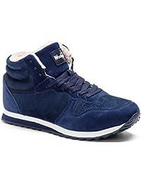 Gaatpot Herren Damen Stiefel Schneestiefel Hohe Sneaker Warm gefütterte Schnürstiefel Schuhe 36-48