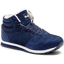 online store 15449 4150e Gaatpot Zapatos Invierno Botas Forradas de Nieve Zapatillas Sneaker Botines  Planas para Hombres Mujer 36-
