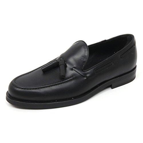 B9724 mocassino uomo TOD'S scarpa nappina nero loafer shoe man Nero