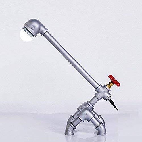 Wunderschönen Retro Metall Schreibtischlampe Licht Novely Style Antikes Eisen Brauchwasser Rohr Led Tischlampe Machen Sie Ihr Zuhause luxuriöser -