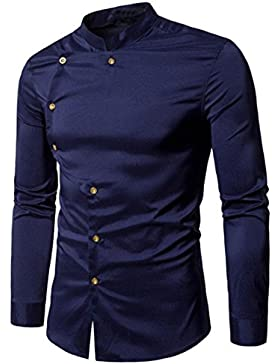 Bluestercool Camicie Uomo Slim Fit Maniche Lunghe Fashion Shirt