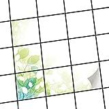 creatisto Fliesen-Muster   Dekorations-Fliesensticker Küchenfliesen Bad-Folie Küchengestaltung   15x15 cm Design Motiv Flower Light - 9 Stück