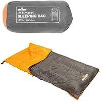 Milestone Camping 26730 Envelope Sleeping Bag Double Insulation Grey & Orange
