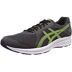 Asics Jolt 2, Zapatillas de Running para Hombre, Gris (Dark Grey/Hazard Green 021), 42.5 EU