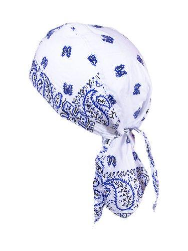 bandana-cap-testa-panno-muster-weiss-blau-schwarz