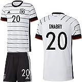 adidas UEFA Fußball DFB Deutschland Heimset EM 2020 Home Kit Trikot Shorts Herren Gnabry 20 Gr M