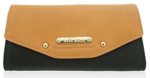 Anna Smith ecopelle Matinee grande borsa con scatola regalo Black & Tan