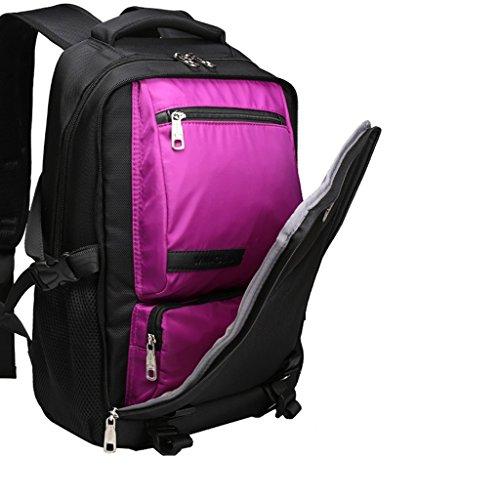 AMOS Rucksack Frau Reise Business Computer Tasche Student Tasche männlichen Arbeit Klasse Reisepaket Lila