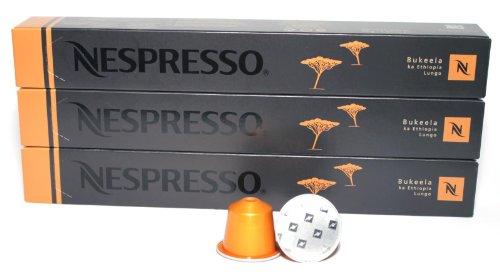 Choose 30 Bukeela ka Ethiopia Lungo Nespresso Capsules Espresso Pure Origin from Nestlé
