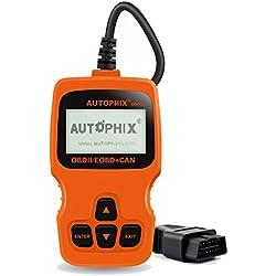 AUTOPHIX - OBD2 Valise de Diagnostic Notice en Francais, Autophix OBD 2 Scanner Diagnostic Auto Multimarque pour Lire /Effacer le Code de Moteur/ I/M Test(Autophix Om123 Orange)