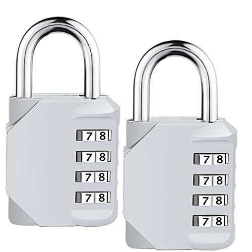 Isiyiner lucchetto a combinazione 4 cifre combinazione lucchetto sicurezza lucchetto da viaggio per valigia viaggio borsa bagaglio armadietto 2 pezzi