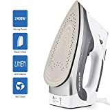 Beautural 2400-Watt Steam Iron with Digital LCD Screen, Double-Layer and Ceramic Coated Soleplate