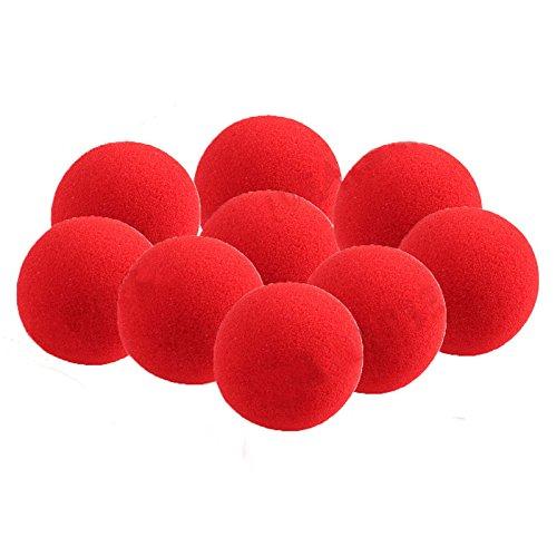 Pinzhi 10 Kleine Rote Schwamm Ball Magic Stütze Nahaufnahme Magie (Bälle Magic Sponge)