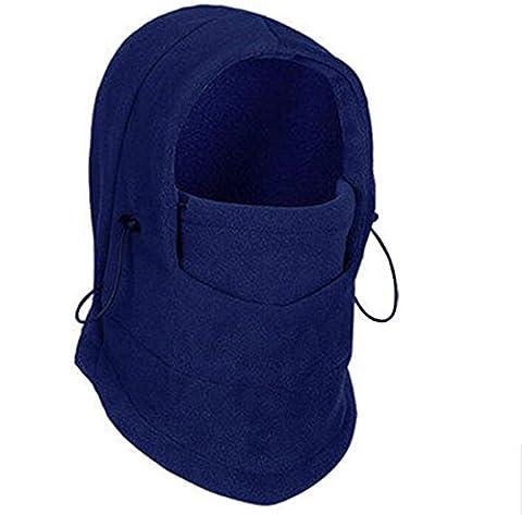 Children Kids Thermal Fleece Snood Balaclava Hat Thick Adjustable Winter Windproof Outdoor Ski Snowboarding Cycling Face Mask Scarf Cap Hood Neck Warmer (blue)