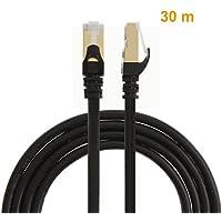 CableCreation CAT7(categoria 7) doppia schermatura cavo Patch Ethernet, contatto placcato oro
