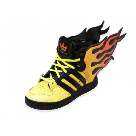 Adidas JS FLAMMES I Gelb Schwarz Baby Sneakers Schuhe Jeremy Scott Neu