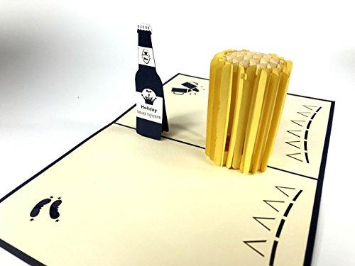 Bier 3D Laser Cut Pop Up Vintage Geburtstag Grußkarte handgemacht Geschenke Karten Wishes Postkarten Basteln mit Umschlag 2035