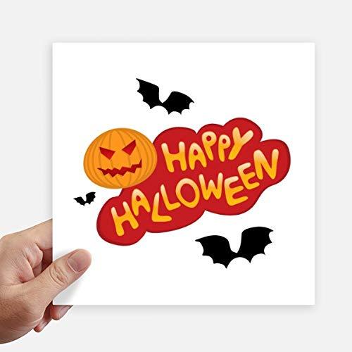 DIYthinker Cartoon Halloween Schriftarten Quadrataufkleber 20Cm Wand Koffer Laptop Motobike Aufkleber 4Pcs 20cm x 20cm Mehrfarbig