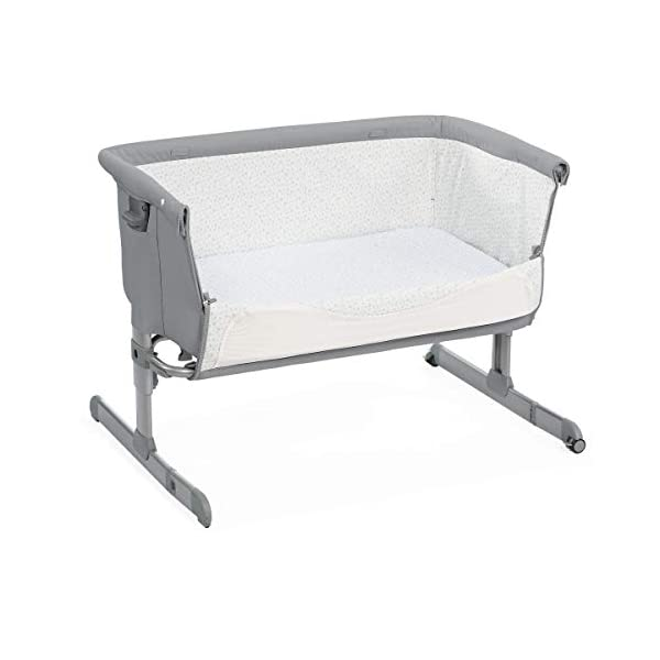 Chicco Next2Me Unisex Cot for All Beds Pearl Grey  Adjustable height in 6 positions Compatible with almost all beds Tiltable so baby breathes better 2