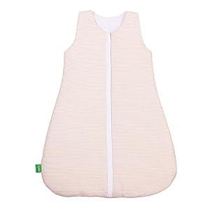 lulando–Saco de dormir para bebé para recién nacidos y niños pequeños Verano Saco de dormir y saco de dormir de invierno para su bebé color: Beige/Stripes, tamaño: 70Cm