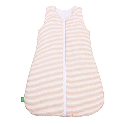 LULANDO Babyschlafsack für Neugeborene und Kleinkinder Sommerschlafsack und Winterschlafsack für Ihr Baby. Farbe: Beige / Stripes, Größe:70 cm