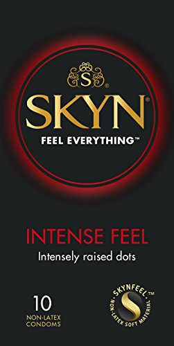 Geschmiert Latex Kondome Kondom (SKYN Intense Feel Kondome, 10-er Pack)