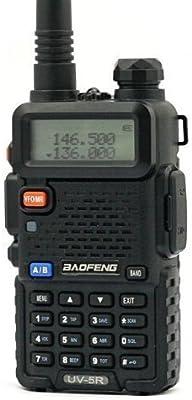 BaoFeng UV-5R - Transceptor portátil (Doble Banda, 136-174/400-480 MHz, Receptor Radio FM, Codificación DTMF, Códigos de Privacidad CTCSS)