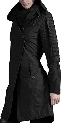 Musterbrand Star Wars Cappotto con cappuccio Donna Sith Lady Giacca Nero XL