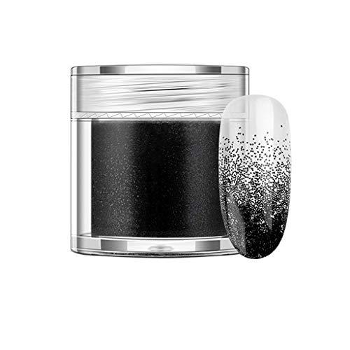JUTOO Poudre à Ongles 10g Paillettes Holographiques Iridescent Nail Art Verre à vin Artisanat Décoratio