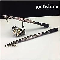 Caña de pesca aparejos de pesca giratorio pesca Rod, 1,8 m -3.3 M señuelo de fibra de carbono caña de pescar caña de pescar, cañas de baitcasting pesca señuelo de varillas, 2.7M/8.86FT