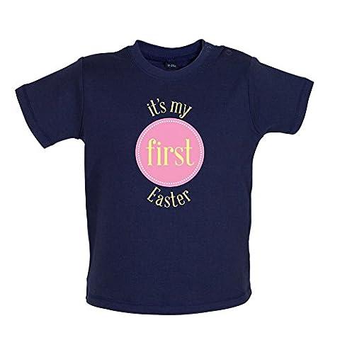 My First Easter - Girl - T-shirt bébé - Bleu Marine - 3 à 6 mois