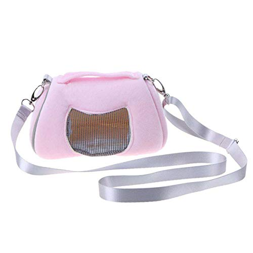 Jinxuny Tragbare Haustier-Tragetasche, atmungsaktiv, für Reisen, für kleine Katzen, Hund, Hamster, kleine Tiere, für Outdoor-Aktivitäten, Wandern, Rose -