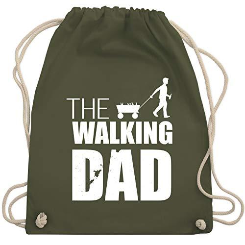 Vatertag - The Walking Dad Vatertag weiß - Unisize - Olivgrün - WM110 - Turnbeutel & Gym Bag