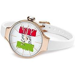 HOOPS Uhren CHERIE Flag Rosegold Damen 2483lg-51
