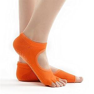 Maybesky Yoga Socken Frau Open-Toed Halfter Finger dünne Pilates Anti-Rutsch-Boden Socken Pilates, Anti-Rutsch-Slip-Socken