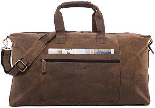 LEABAGS Sydney Reisetasche aus echtem Büffel-Leder im Vintage Look - SugarCane SugarCane
