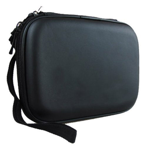 "co2UK(TM) Nero EVA antiurto Pad viaggio di trasporto della pelle Bag Box Cover protettiva Caso Per 2.5"" inch WD Western Digital My Passport Ultra Elements/ Samsung M3 Slimline/Toshiba Canvio Basics/Seagate Backup Plus Slim Hard disk esterni portatili 1TB"