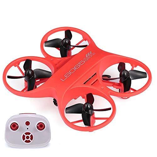 RCTecnic Mini Dron para Niños De Bolsillo Súper Resistente Tornado Control por Infrarrojos Ultra Preciso Sin Control de Altura para más Diversión Medidas 9 x 7,5 x 2,5 cm Drone Acrobático (Rojo)