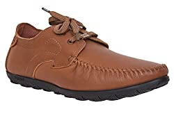 EGOSS Tan Genuine Leather Formal Shoe ( Model Number : RB-1007-TAN )