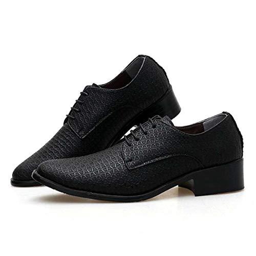 Scarpe eleganti da uomo in pelle fatte a mano moderne classiche con lacci in pelle foderate (colore : nero, dimensione : 43)