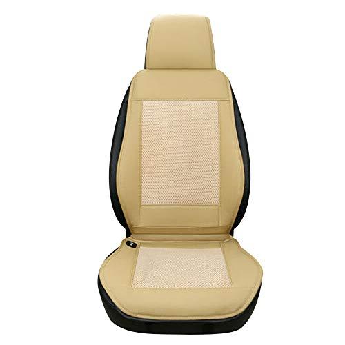 Leslaur 12V 3D Mesh Spacer Cooling Autositz Kissenbezug Air Ventilated Fan Conditioned Cooler Pad