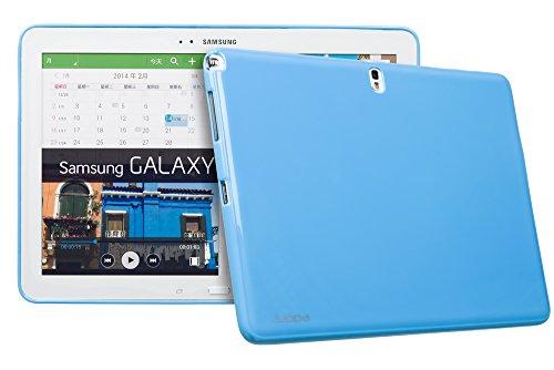Juppa® Samsung Galaxy Note Pro 12,2 Zoll SM-P900 SM-P905 TPU Silikon Tasche Hülle Schutzhülle mit HD LCD Displayschutz Schutzfolie Folie (Blau / Blue) Blau / Blue